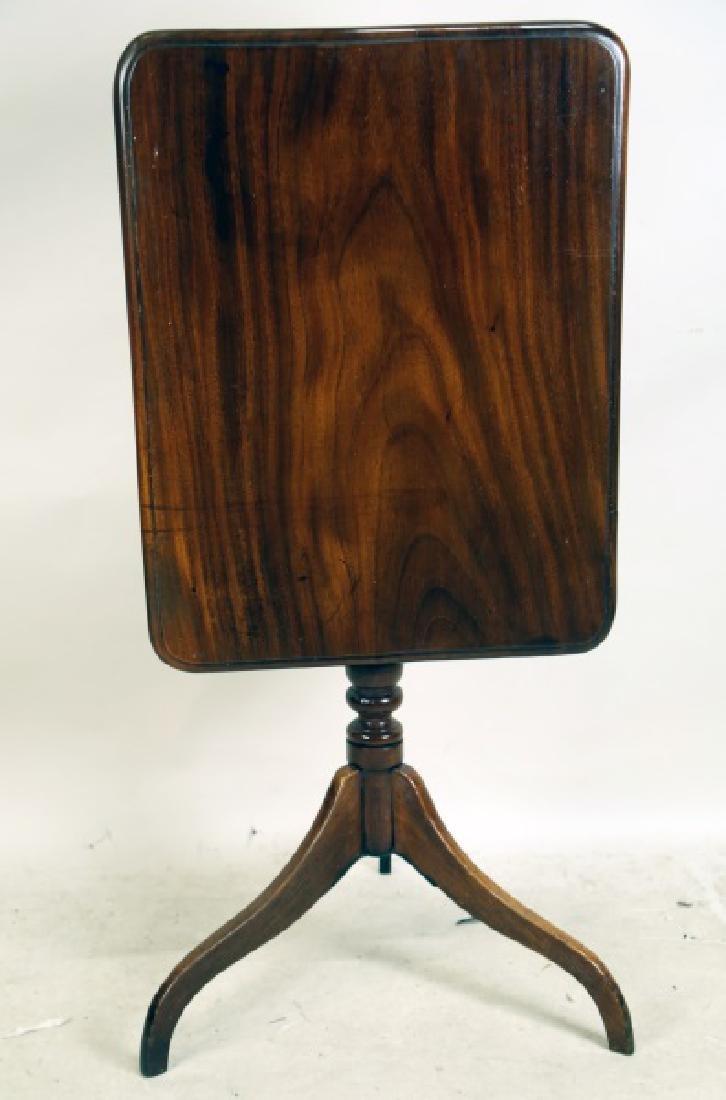 18th CENTURY ENGLISH MAHOGANY FLIP TOP TABLE