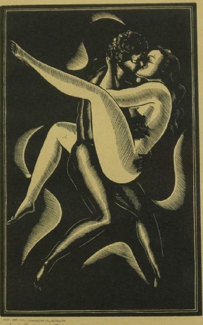 "E. M. WASHINGTON ""EROTIC WOODCUTS"" 1943"
