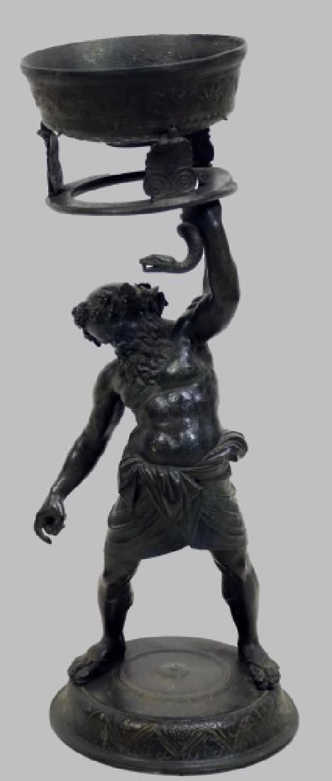 19th CENTURY COPY OF A ROMAN BRONZE SCULPTURE CENSER