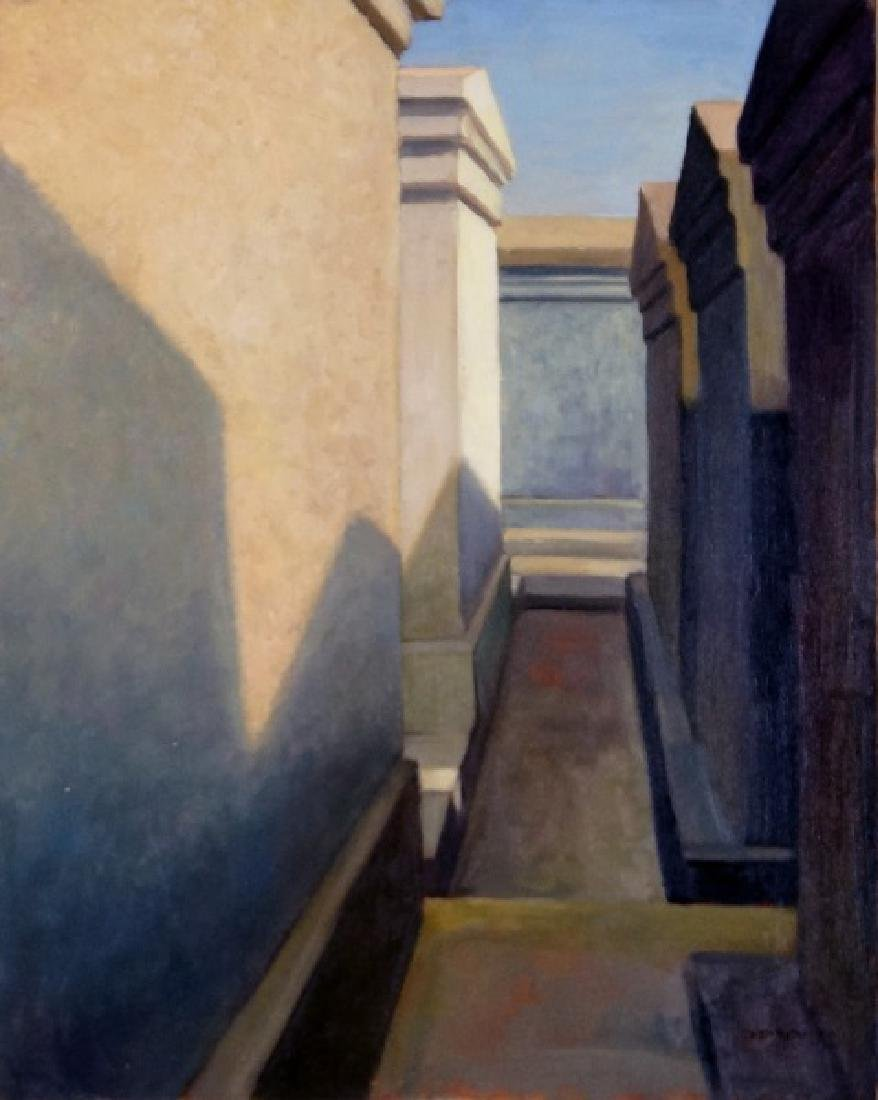 "PHILIP C. THOMPSON ""TOMBS & SHADOWS"" OIL ON CANVAS"