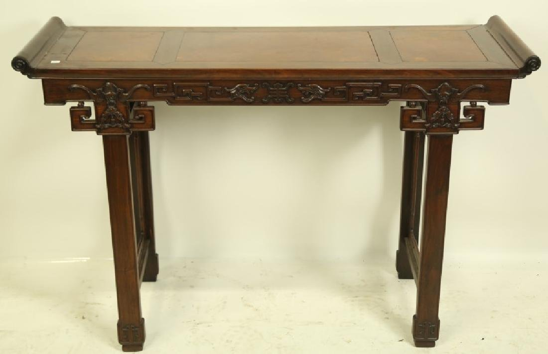 19th CENTURY ROSEWOOD ALTAR TABLE