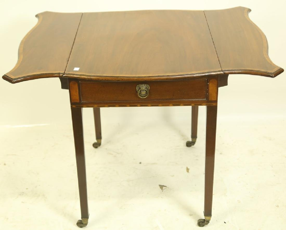 CIRCA 1840's MAHOGANY PEMBROKE TABLE