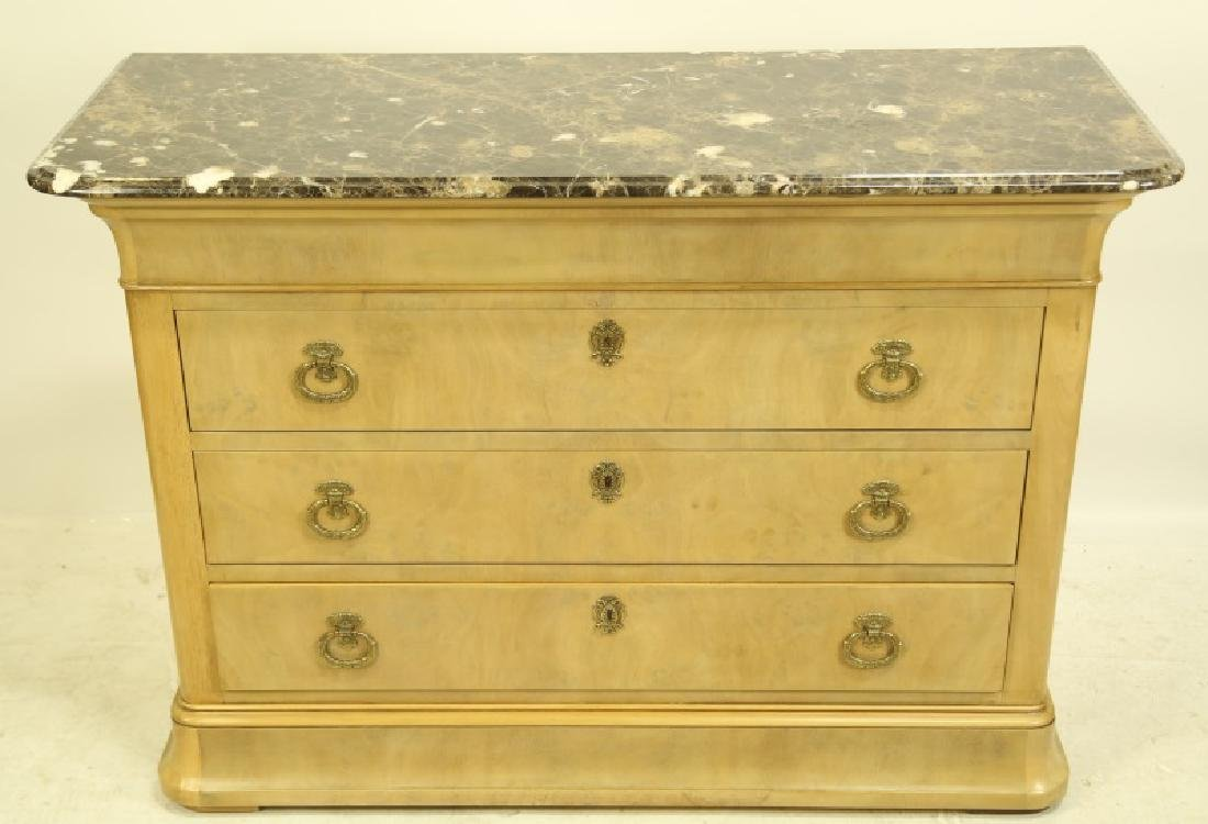 E. J. VICTOR LOUIS PHILIPPE STYLE MARBLE TOP CHEST