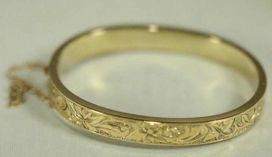 GOLD BANGLE BRACELET 1879 PANTENT