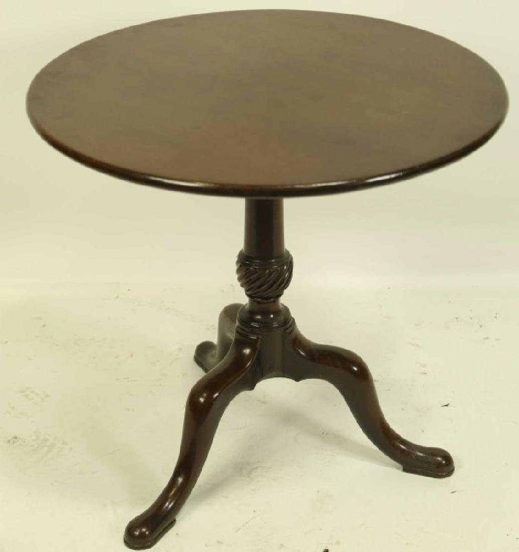 CIRCA 1800 GEORGIAN MAHOGANY FLIP TOP TABLE