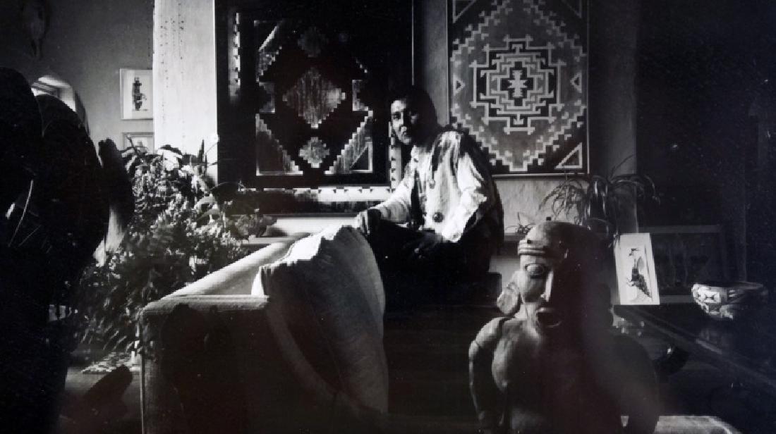 PHOTO OF R.C. GORMAN IN HIS STUDIO 1971