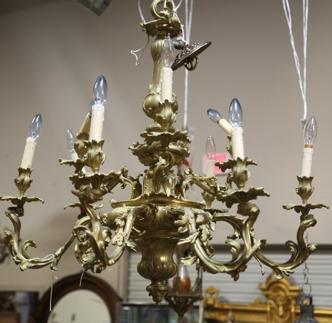 19th CENTURY FRENCH BAROQUE BRONZE CHANDELIER