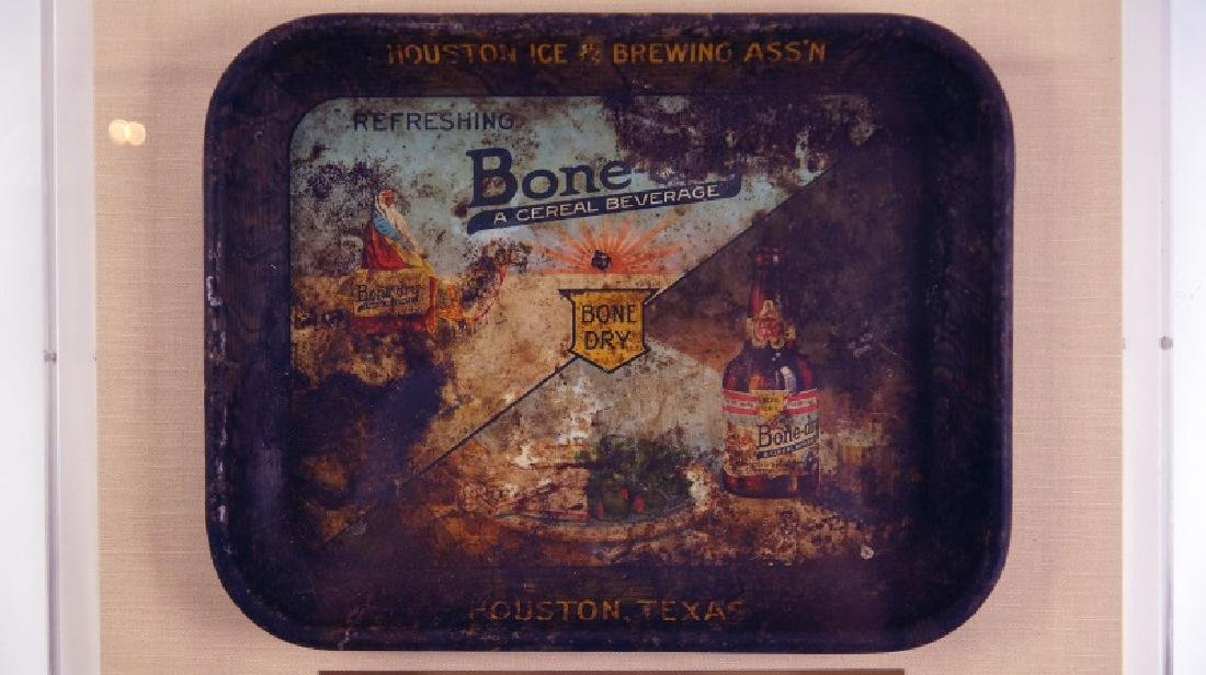 "HOUSTON ICE & BREWING ""BONE DRY CEREAL BEVERAGE TV TRAY"