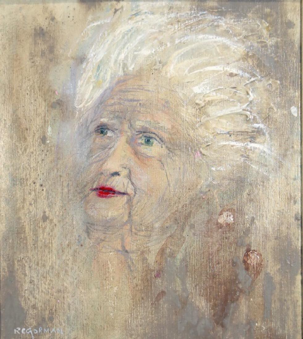 R.C. GORMAN OLD WOMAN PORTRAIT, 1970