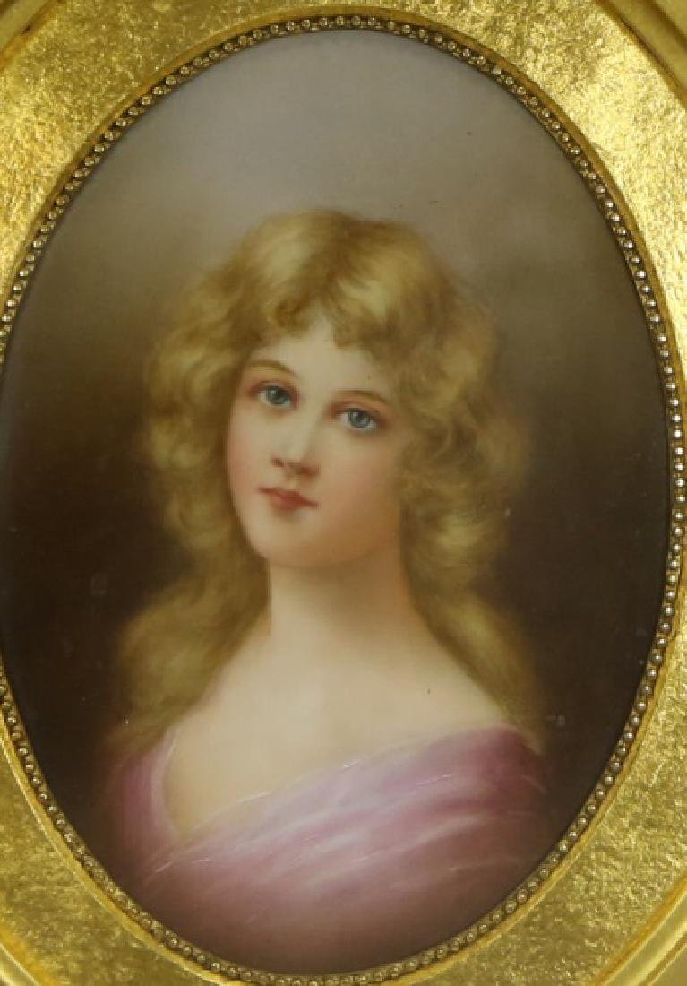 19th CENTURY PORCELAIN PORTRAIT PLAQUE