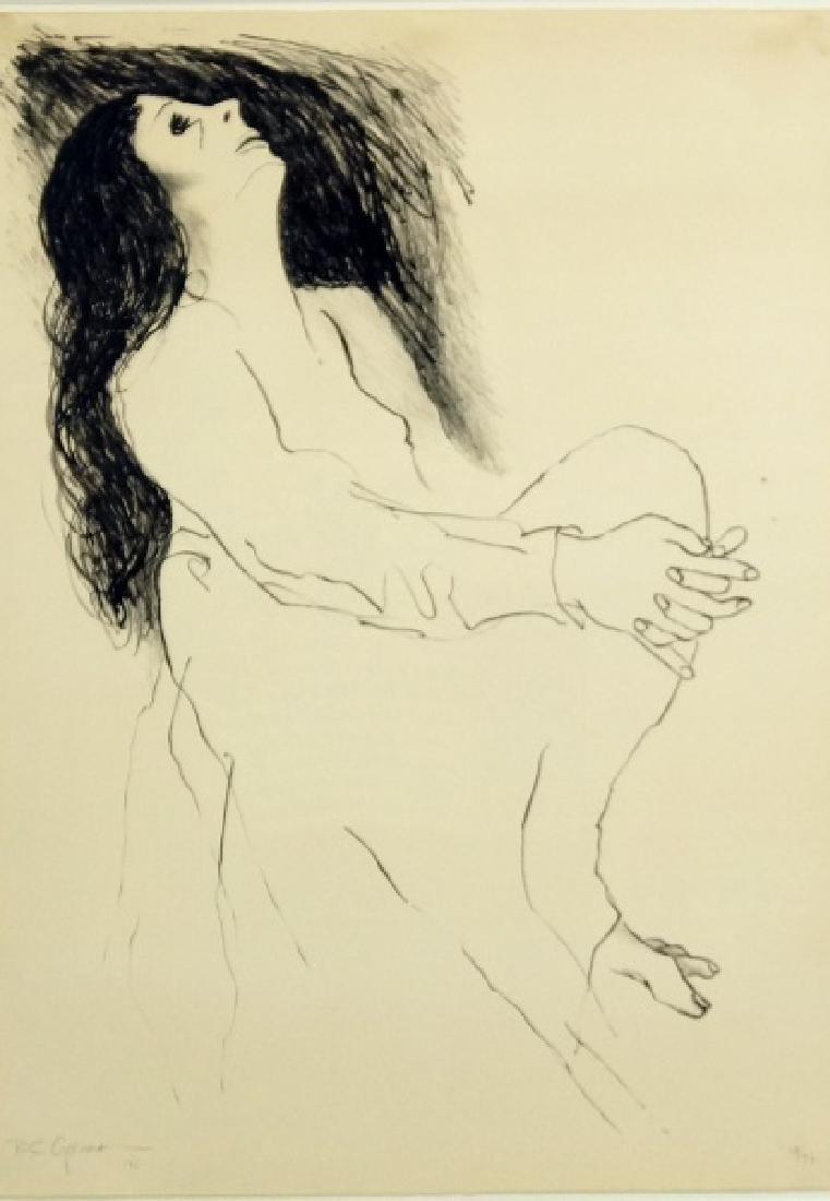 "R.C. GORMAN ""RECLINING WOMAN"" LITHOGRAPH, 1971"