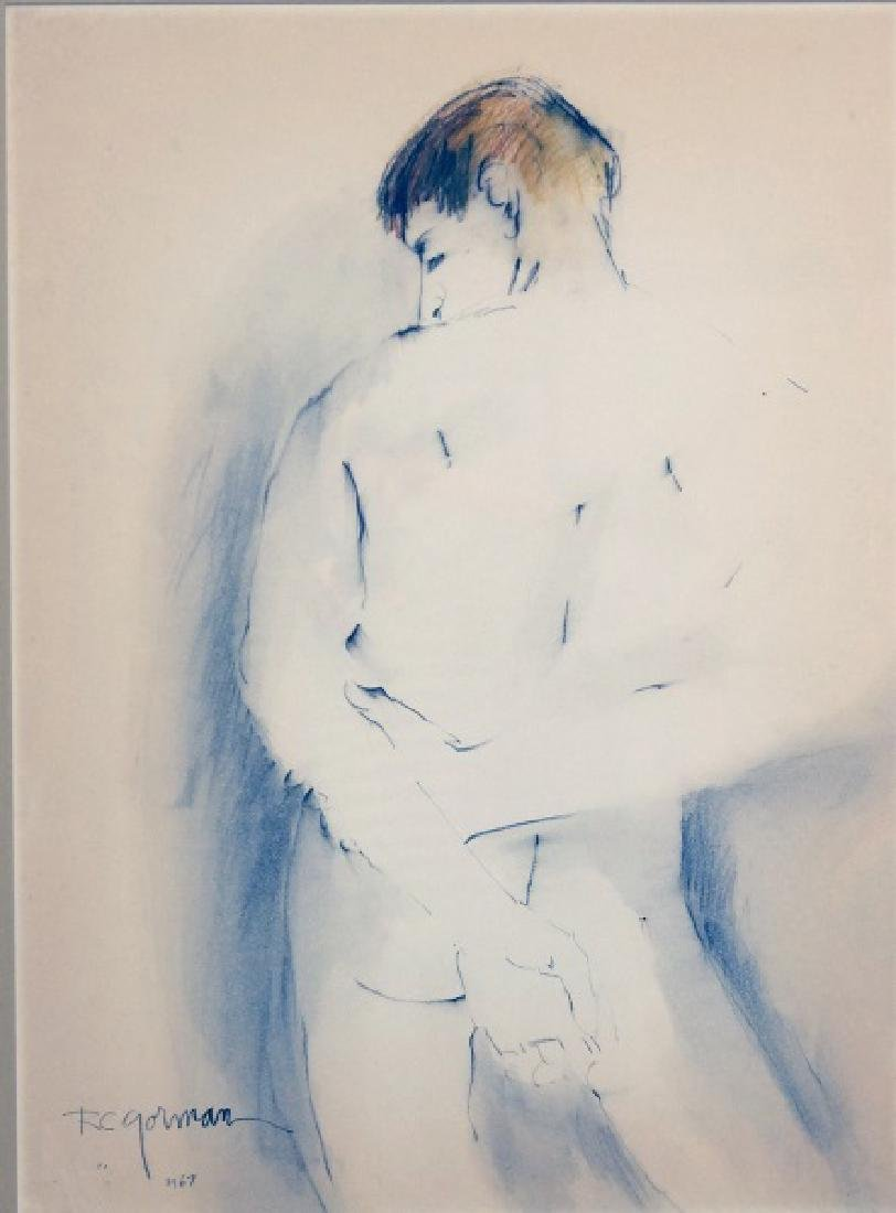 "R.C. GORMAN ""NUDE BART"" DRAWING, 1967"