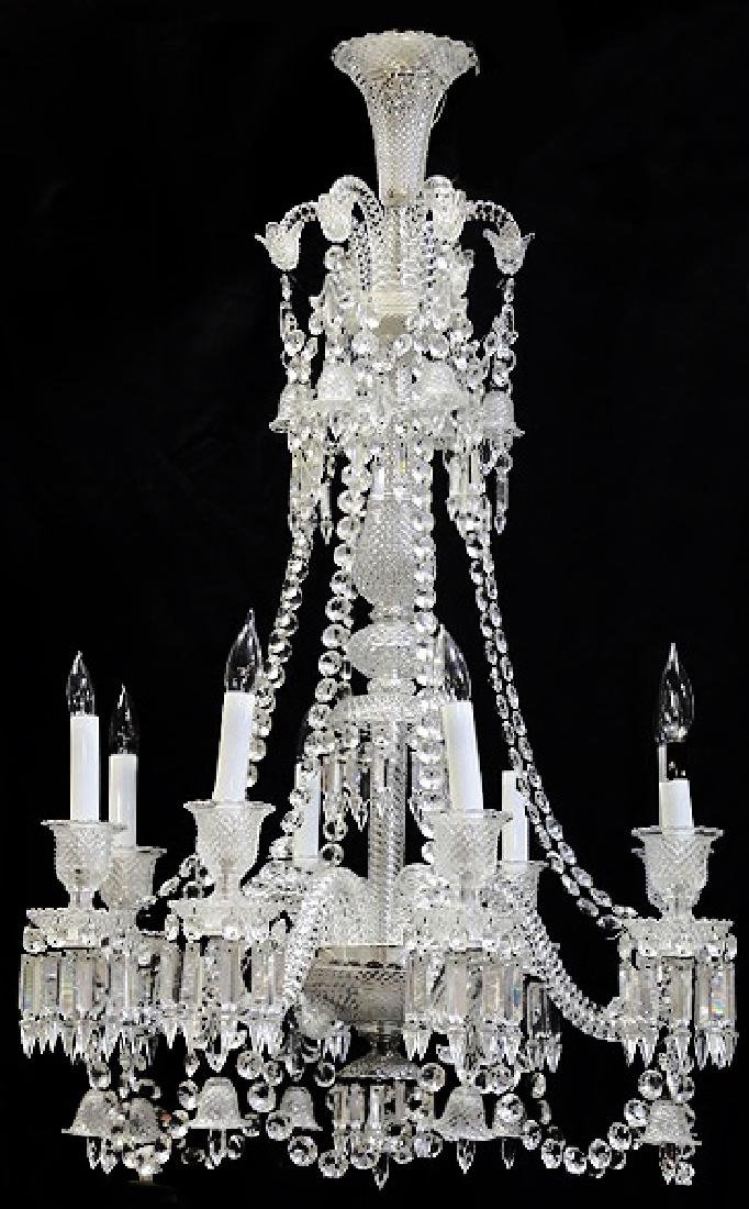 BACCARAT CRYSTAL EIGHT-LIGHT CHANDELIER