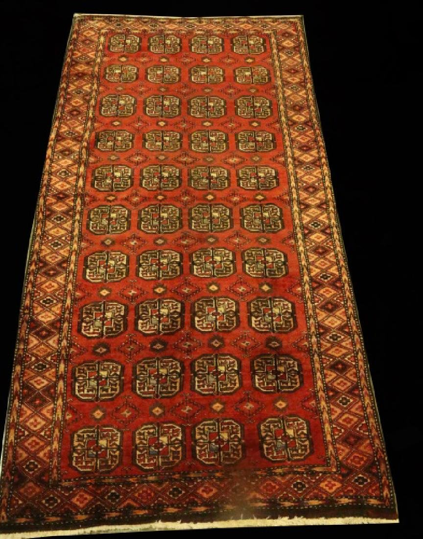 HAND KNOTTED PERSIAN TURKMAN RUNNER