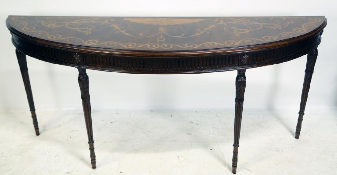 BAKER FURNITURE INLAID CONSOLE TABLE