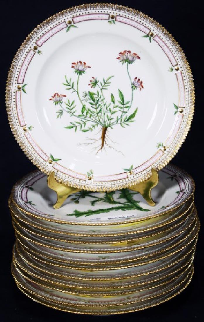 "SET 12 ""FLORA DANICA"" BY ROYAL COPENHAGEN PLATES"