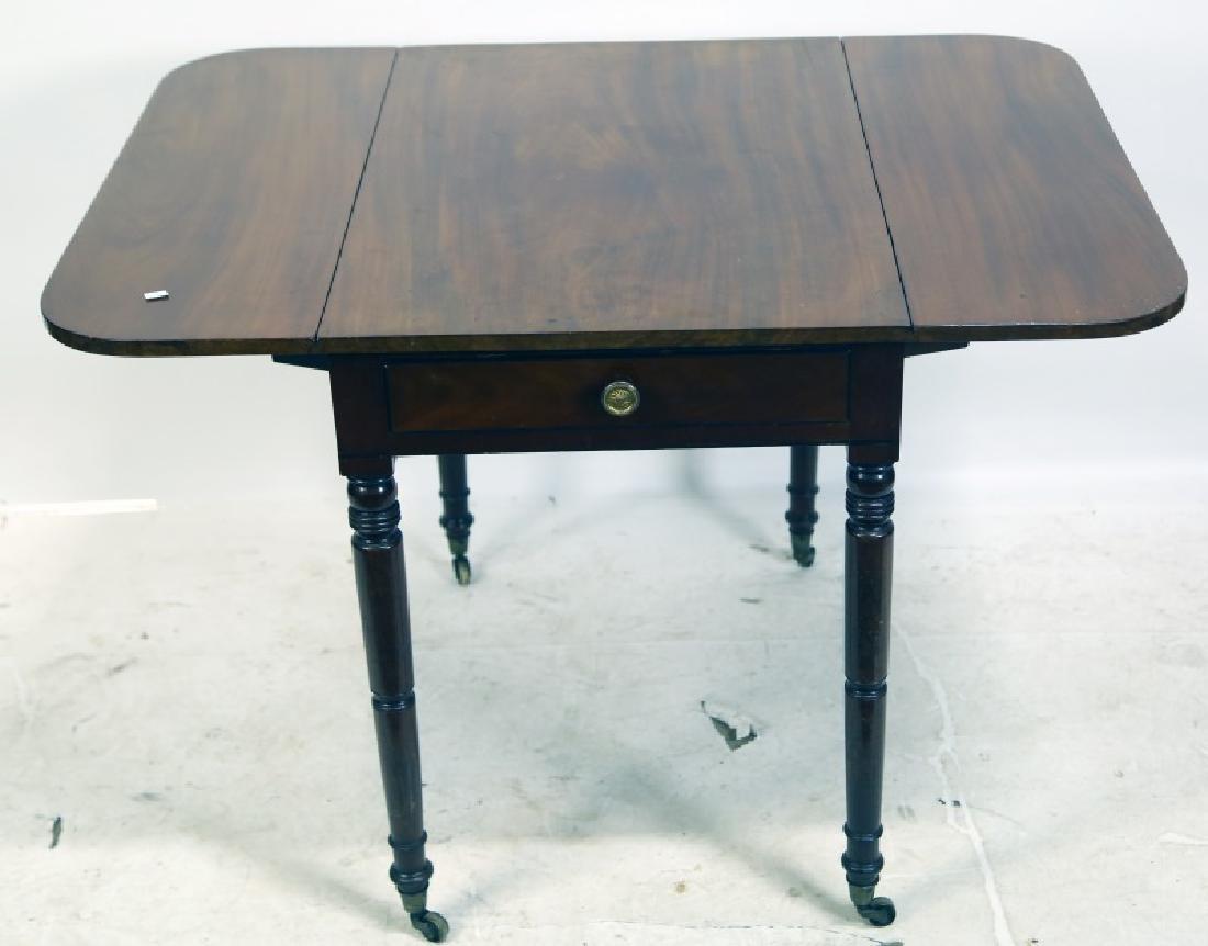 CIRCA 1850's MAHOGANY DROP LEAF PEMBROKE TABLE