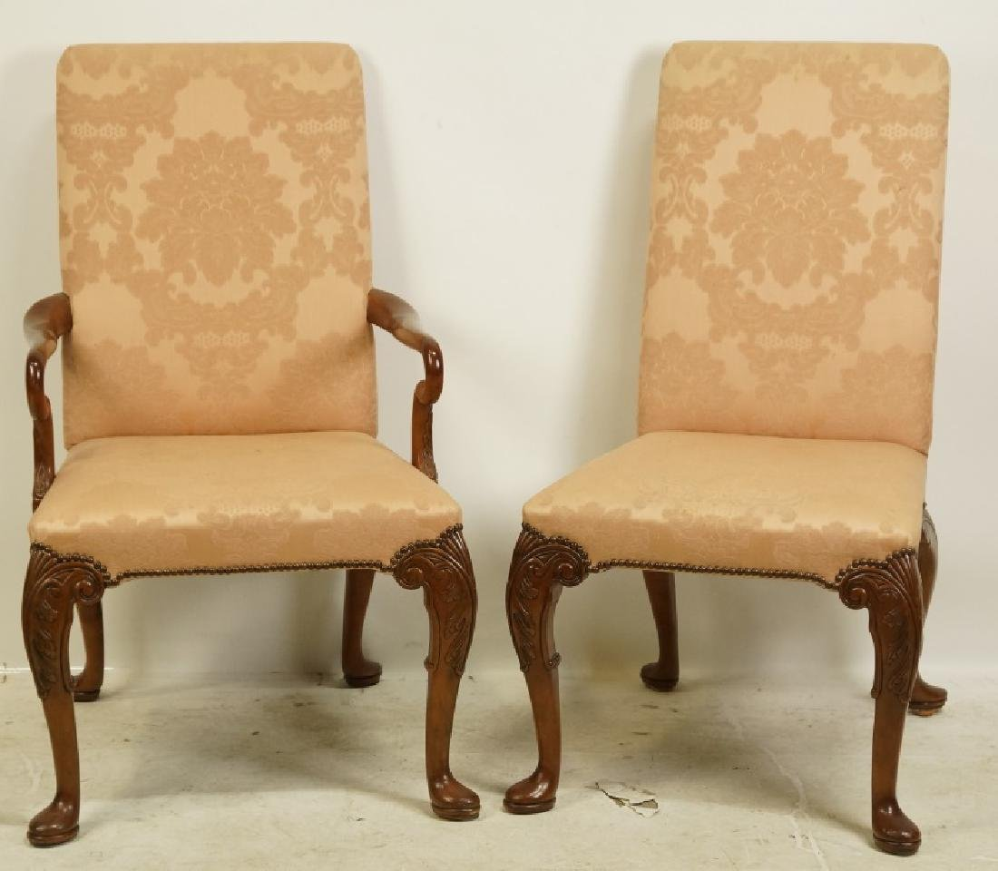 PAIR OF TWELVE BAKER GEORGIAN STYLE DINING CHAIRS