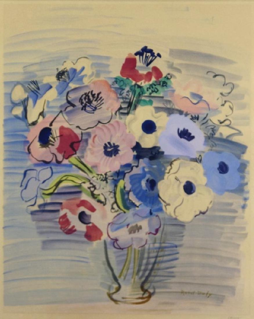 RAOUL DUFY STILL LIFE FLORAL SIGNED PRINT, #68/250