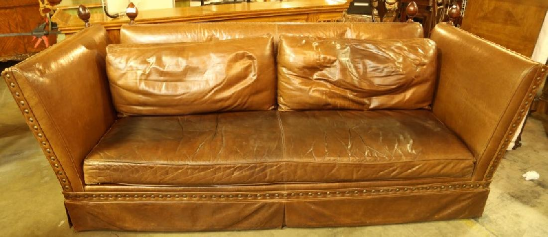 VINTAGE KNOLL HOUSE LEATHER SOFA