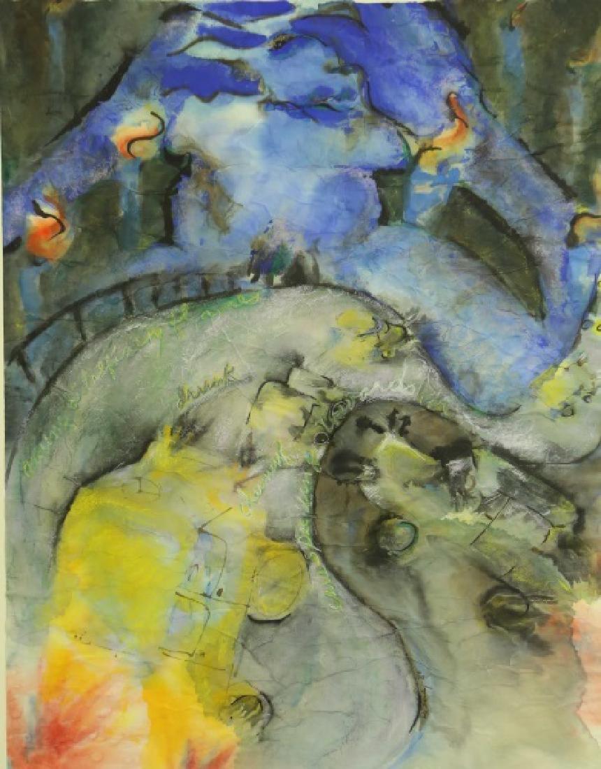 "LINDA DELANEY ""AMONG OIL REFINING FLAMES"" WC, 1980"