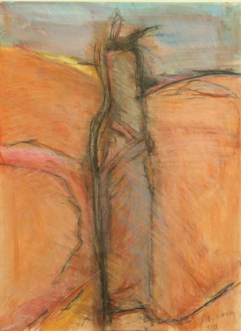 """SALLY CHANDLER """"UNTITLED"""" MIXED MEDIA, 1981"""