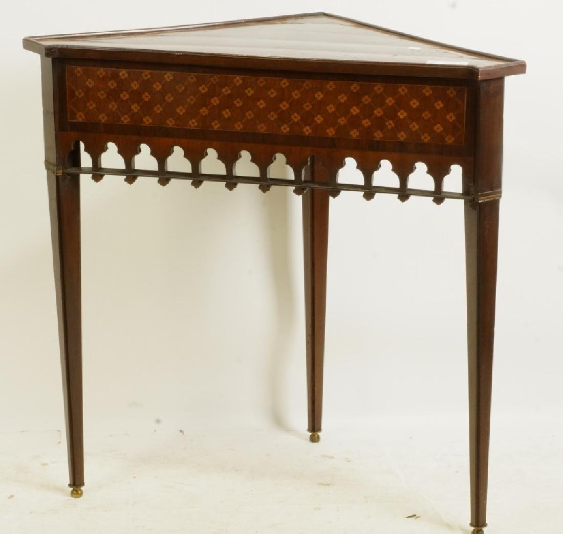 INLAID CORNER TABLE