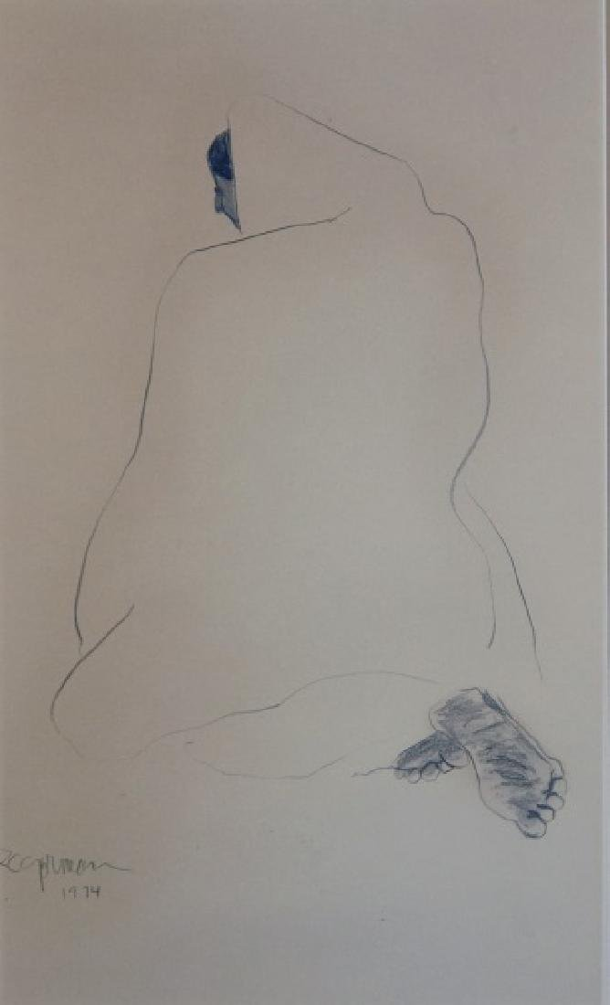 "R.C. GORMAN ""UNTITLED"" DRAWING"