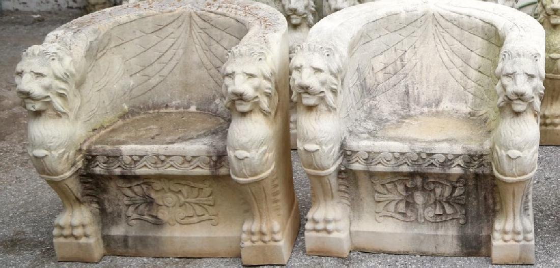 PAIR OF LION CHAIRS