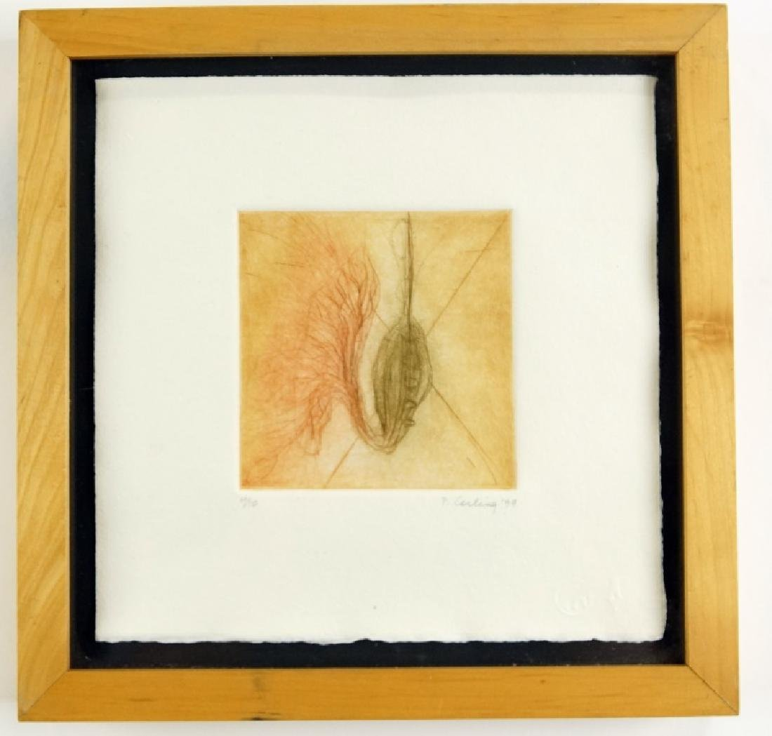 """PENNY CERLING """"POD"""" ETCHING 1999"""