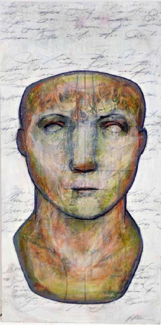 "PATRICK PALMER ""HEIGHTS- ROMAN BUST"" MIXED MEDIA"