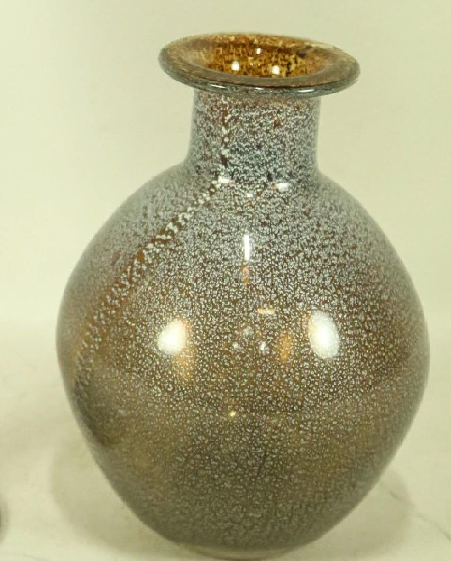 LOT OF TWO ART DECO STYLE MURANO GLASS VASES - 3