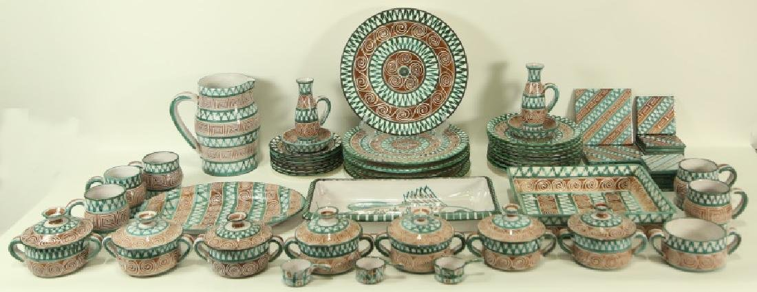 61 PIECE FRENCH POTTERY FOR NEIMAN-MARCUS DINNERWA