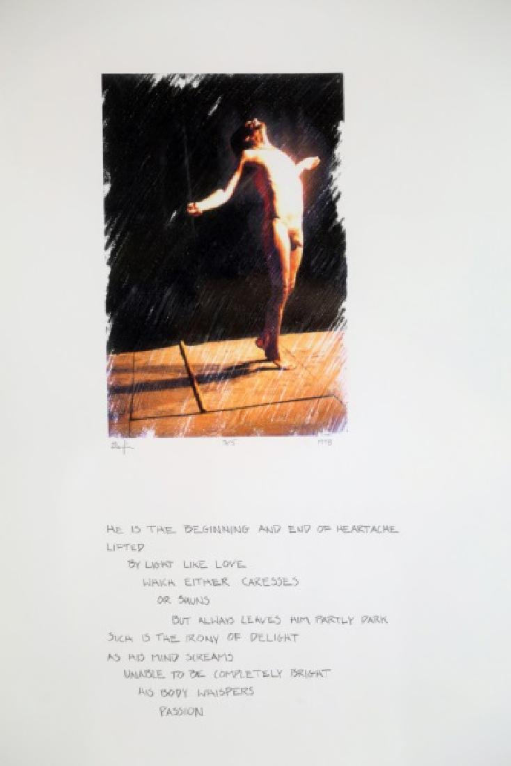 "DARFIN ""UNTITLED POEM"" LITHOGRAPH"