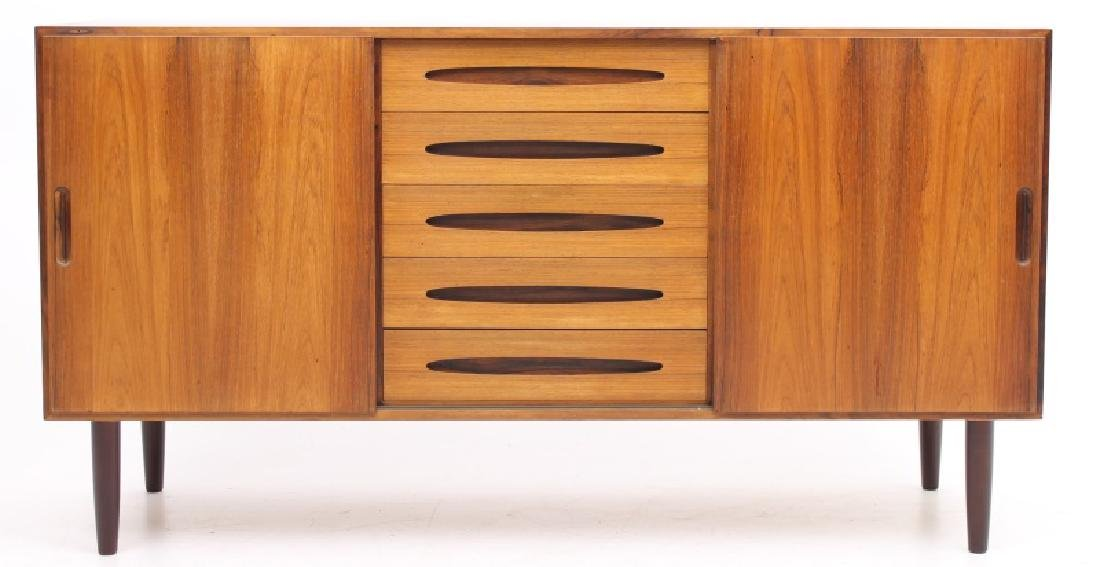 LYBY MOBLER DANISH ROSEWOOD SIDEBOARD, CIRCA  1970's