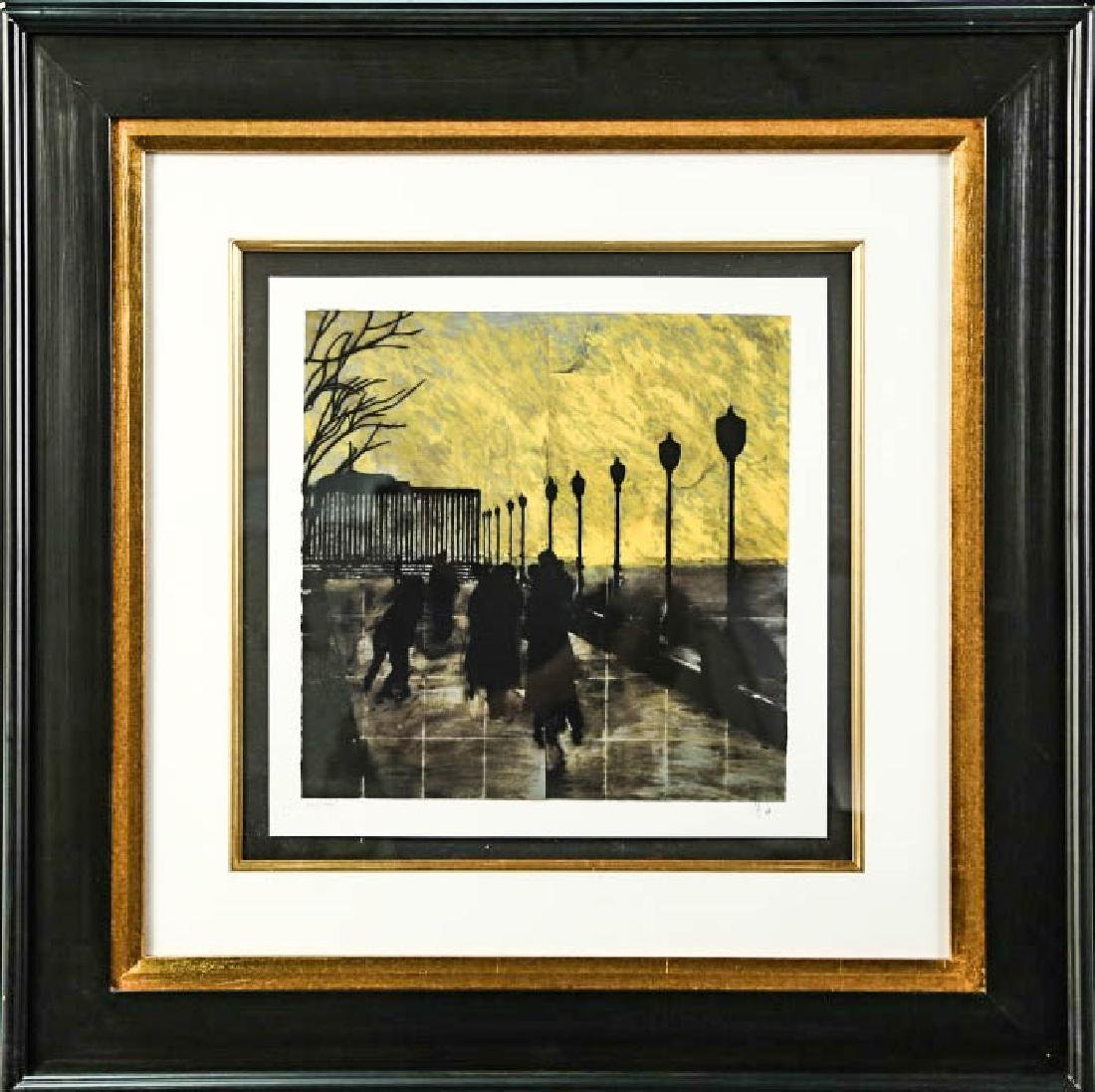 "DONALD SULTAN ""BATTERY PARK"" COLOR LITHOGRAPH"