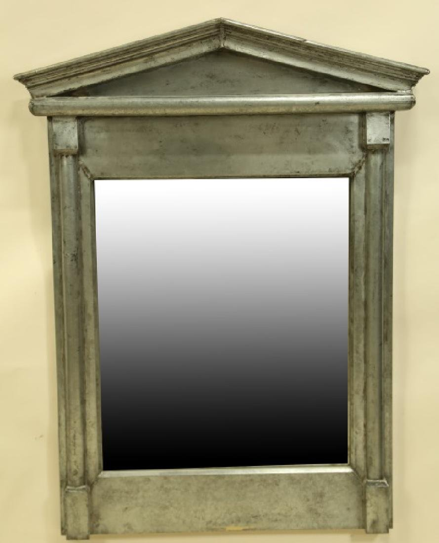 ANTIQUED TIN NEOCLASSICAL STYLE MIRROR