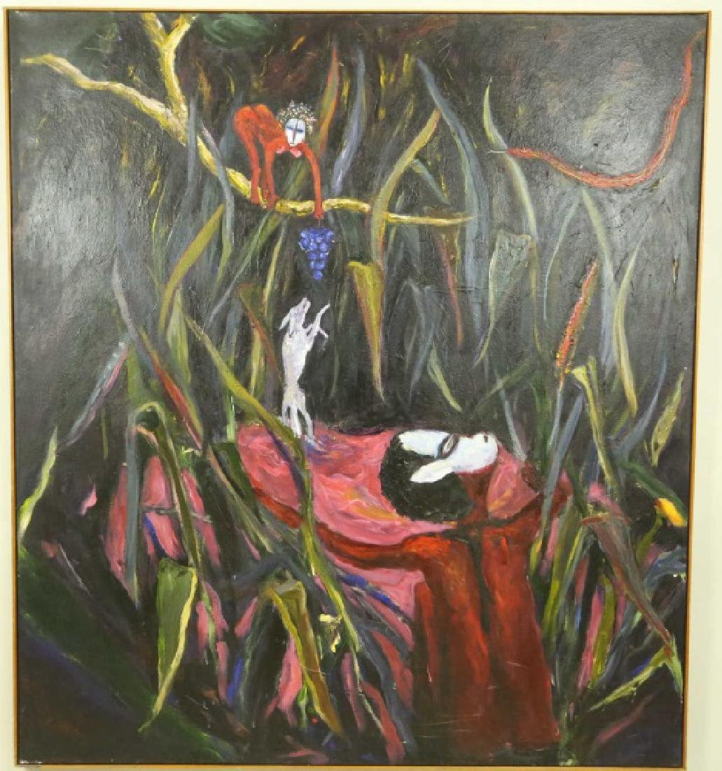 "JOANNE BRIGHAM ""THE TEMPTRESS"" ACRYLIC ON CANVAS"