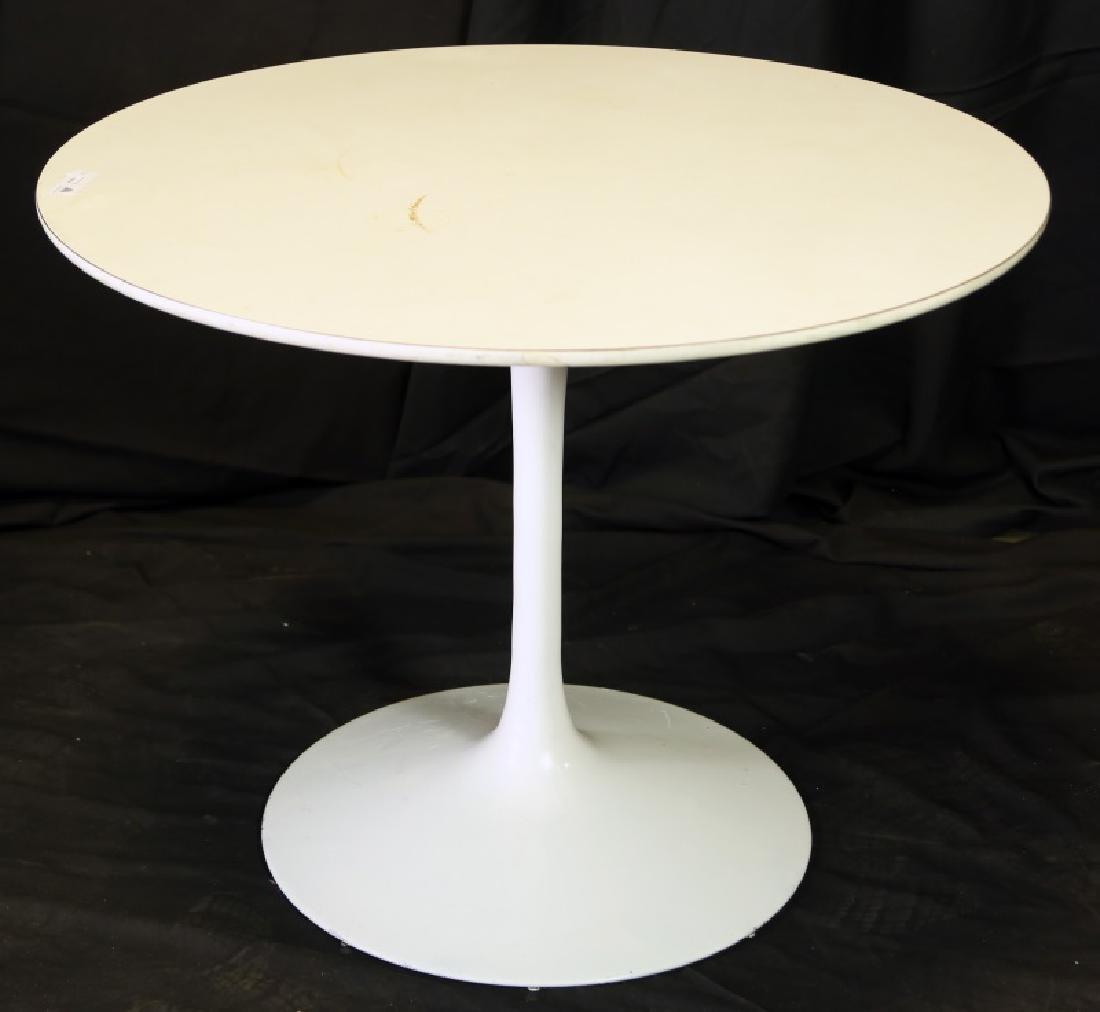 CIRCA 1970's WHITE SERIN FUNNEL TABLE