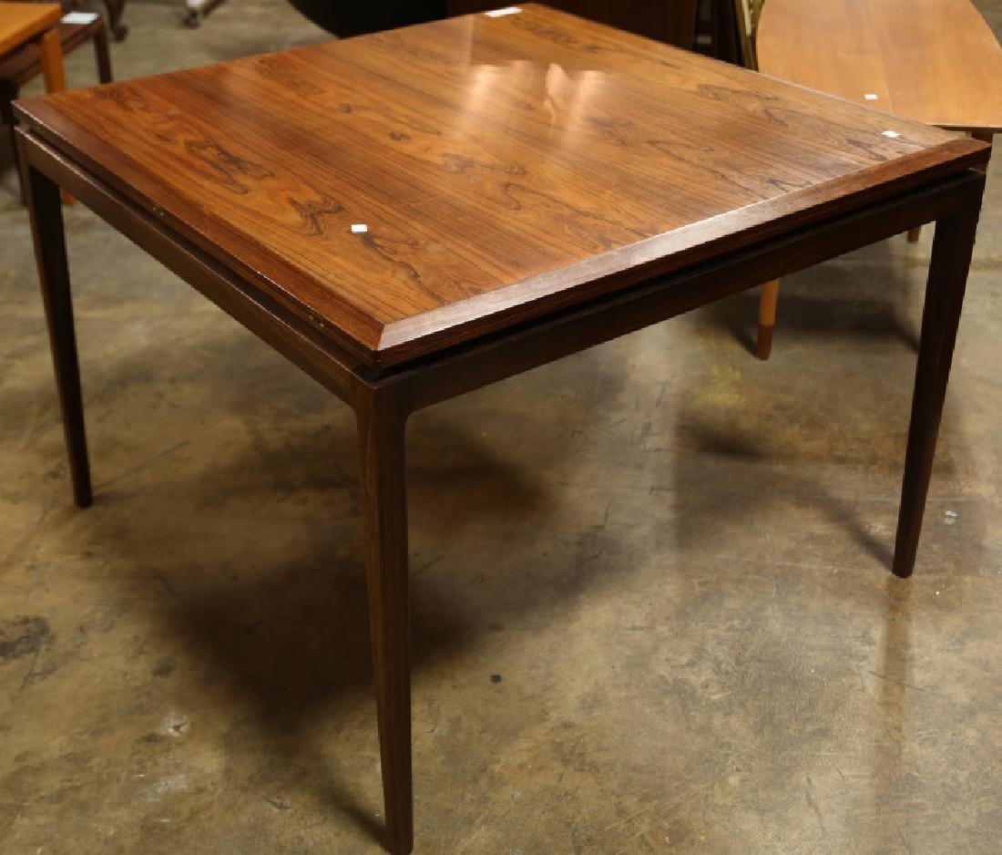LARGE SQUARE MID-CENTURY MODERN DANISH DINING TABLE