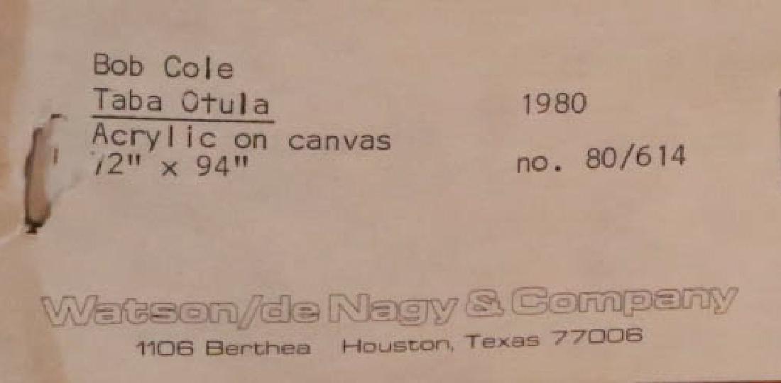 "BOB COLE ""TABA OTULA"" ACRYLIC ON CANVAS, 1980 - 5"