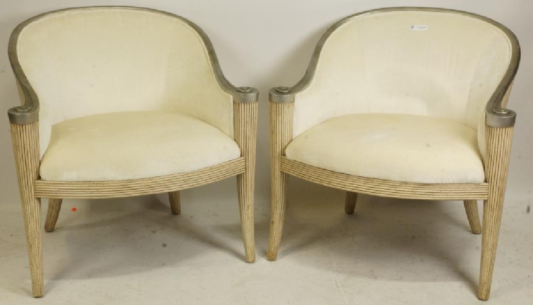 PAIR OF FERGUSON COPELAND ART DECO CLUB CHAIRS