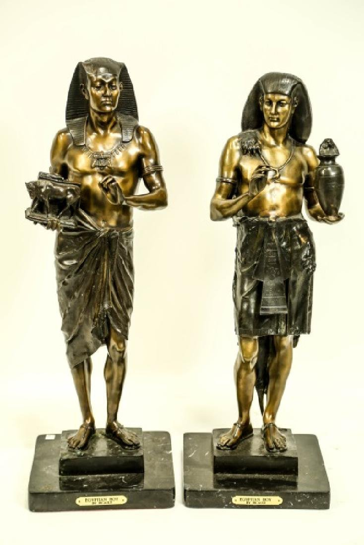 TWO BRONZE EGYPTIAN STYLE FIGURES BY PICAULT