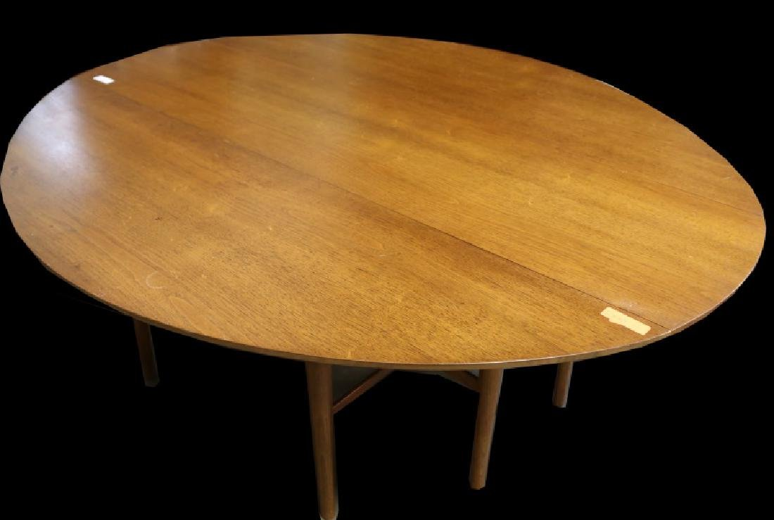 MID-CENTURY MODERN OVAL DROP LEAF TABLE