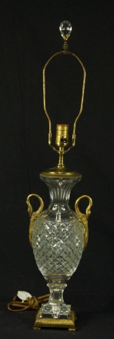 CUT GLASS URN LAMP