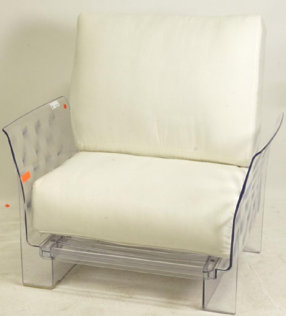 "PAIR CIRCA 1970's KARTELL ""POP DUO""  LUCITE ARMCHAIRS"