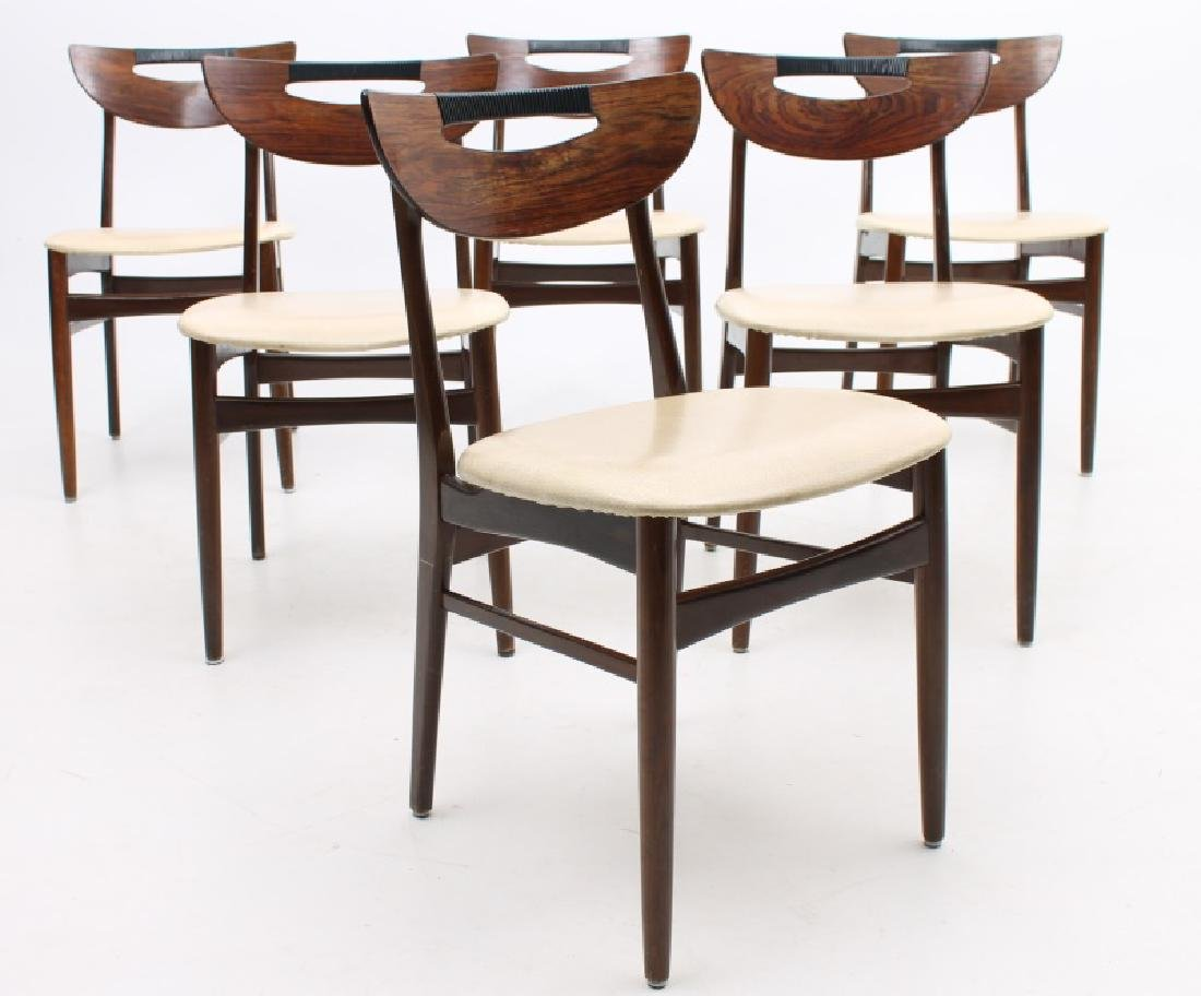 SET OF SIX VESTH TRAEVARER ROSEWOOD SIDE CHAIRS