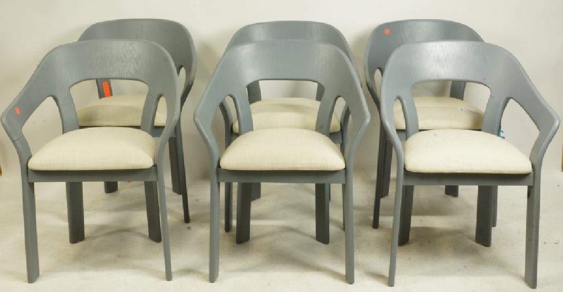 SET OF SIX ITALIAN WILLY RIZZO DESIGN ARMCHAIRS