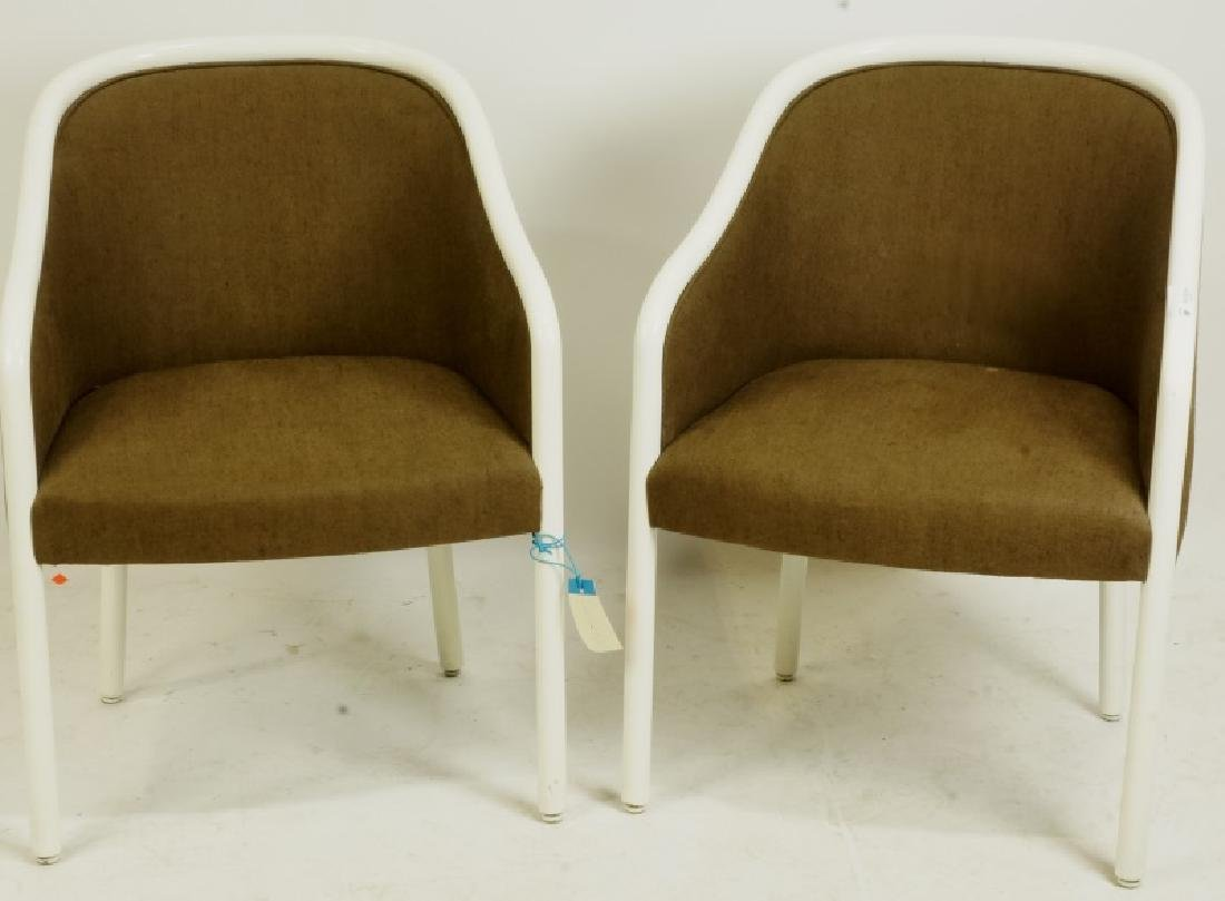 PAIR OF WARD BENNET DESIGN BROWNING TUB CHAIRS