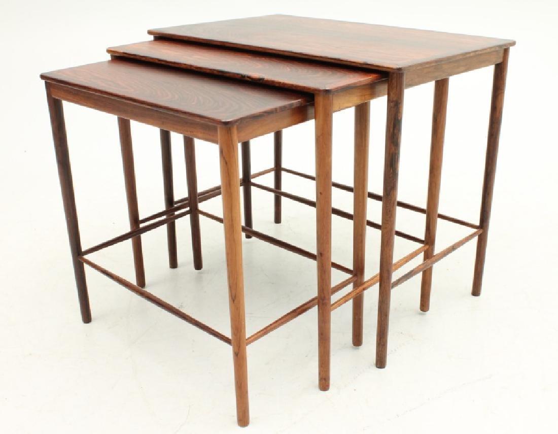 P. JEPPESENS MOBELSNEDKERI TEAK NESTING TABLES